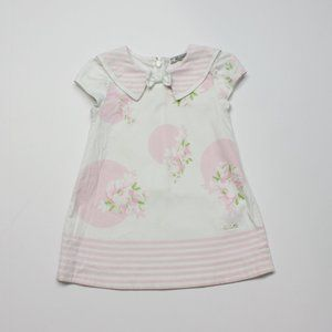 Mayoral Cream and Pink Floral Dress Sz 12m